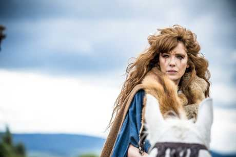 Kelly Reilly stars as Kerra in the TV series Britannia.