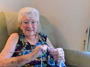 Eileen Adams has bee knitting teddies for nambour
