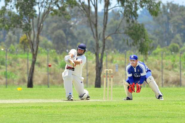 SHINING LIGHT: Laidley batsman Jason Cubit scored 70 runs as the Blue Dogs were defeated by Wests of Toowoomba in the Harding-Madsen Shield final on Sunday.