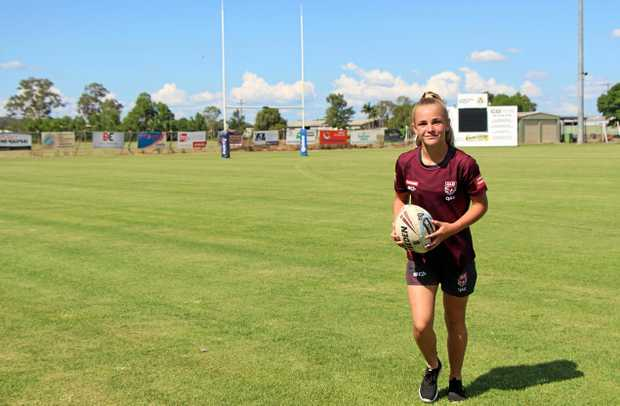 ON THE BALL: Gatton Hawks Juniors ambassador Courtney-Lee Nolan loves rugby and said it's a great way to meet new people.