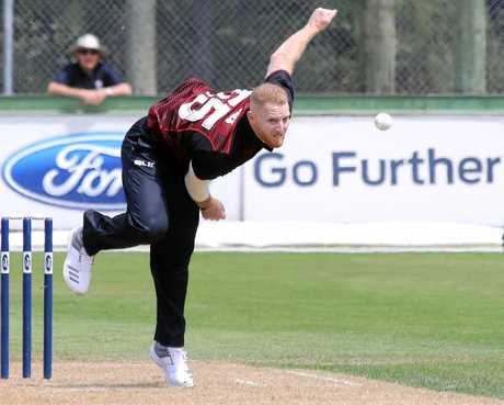 Ben Stokes during his stint for New Zealand club side Canterbury.