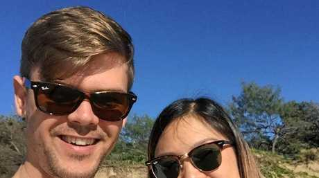 Dr Joshua Mann (pictured with his wife) contested a Sunshine Coast Council parking fine in District Court and won.
