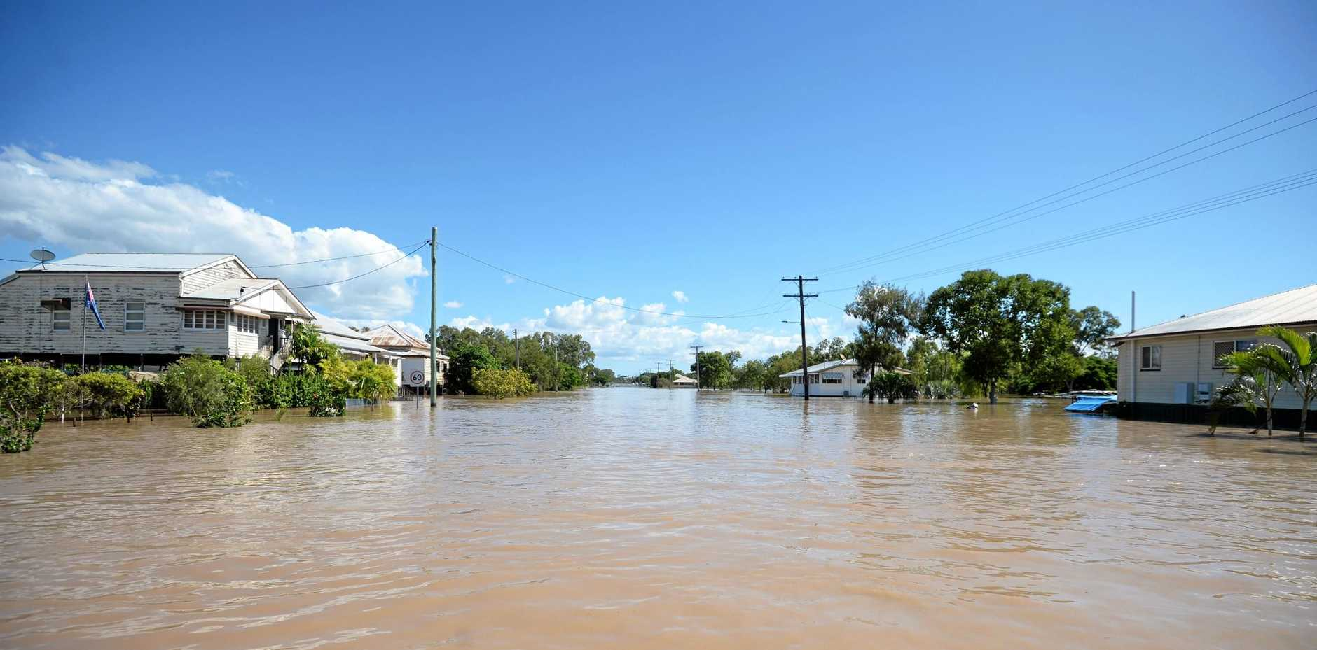 Rockhampton's streets were flooded after Cyclone Debbie hit in April last year.