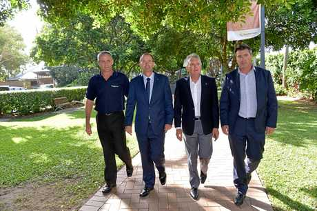 IN MAY last year Sunshine Coast Council Deputy Mayor Tim Dwyer, Federal Fisher MP Andrew Wallace, State Member for Caloundra Mark McArdle and Michael Shadforth from the Caloundra Chamber of Commerce appeared in step on plans to introduce CCTV cameras to the Caloundra CBD. The council is now reluctant to pay for maintenance of the equipment the federal government has promised to fund.