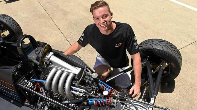 REVVED UP: Buderim's Harri Jones, 18, is on track for a bright career in motorsport.