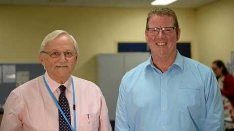 Director of medical services Dr Ross Duncan and Member for Rockhampton Barry O'Rourke.