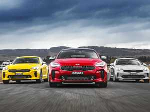 Racy versions of Kia Stinger put on ice