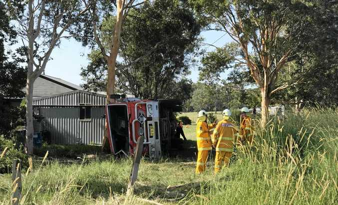 SPILL: A truck carrying diesel lost control on Wooli Rd yesterday morning, crashing and spilling diesel.