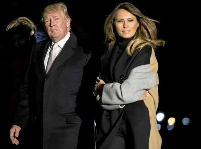 US President Donald Trump and first lady Melania Trump return to the White House following a weekend trip to his Mar-a-Lago resort in Florida.