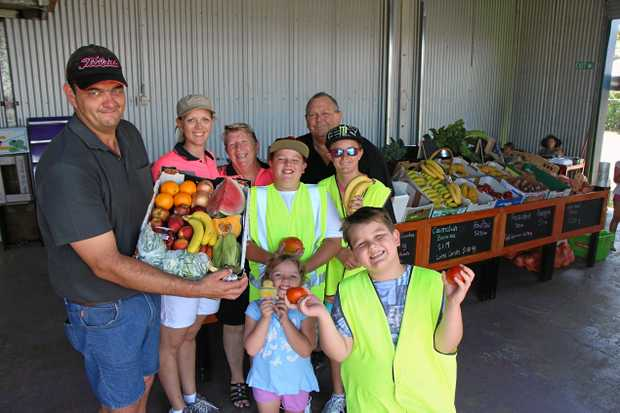 LEAN AND GREEN: The Kajewski family (Steve and Kylie on left) has high hopes for the new store, Laidley Greengrocer.