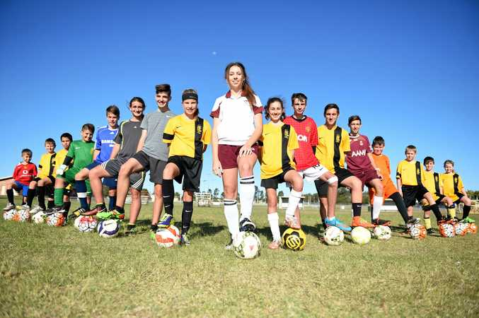 Hervey Bay juniors set for the Joeys Mini World Cup at Inverell, NSW. Photo Matthew McInerney  / Fraser Coast Chronicle