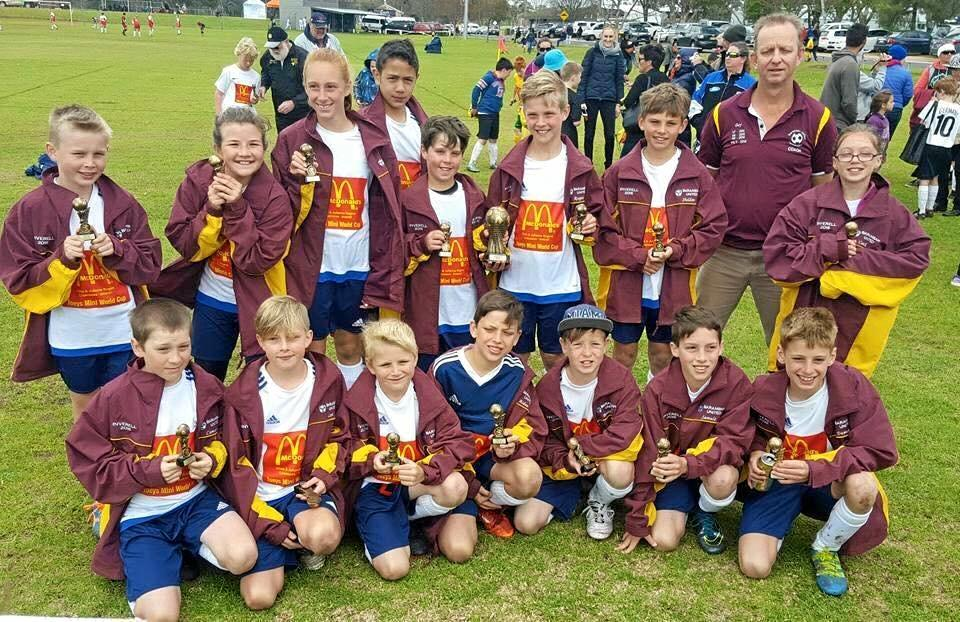 ALL SMILES: The Barambah Bears under 11s finished runners up at the Joey's Mini World Cup in Inverell.
