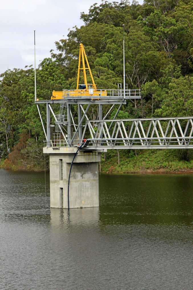 ALL SYSTEMS GO: Shannon Creek Dam is almost full.