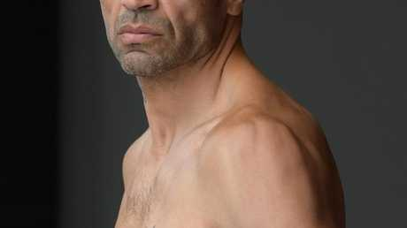 Anthony Mundine had a bit to say before taking on Tommy Browne at The Star. Picture: Simon Bullard
