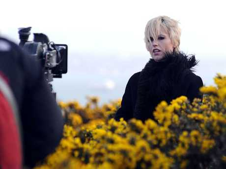 O'Riordan during a shoot for a film clip in 2009. Picture: Wenn/Alamy