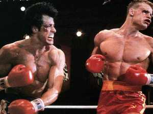 Dolph Lundgren in Rocky IV with Sylvester Stallone. Picture: Alamy