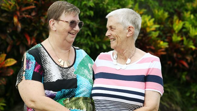White Rock's Robyn Bryant and Chrystine McGowan will wed at Oak Tree Retirement Village on March 18. Picture: BRENDAN RADKE