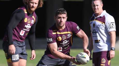 Andrew McCullough is one of the Broncos' hardest workers. Picture: Peter Wallis