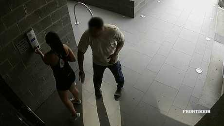 The man followed her off the street to the lobby area. Supplied from Facebook