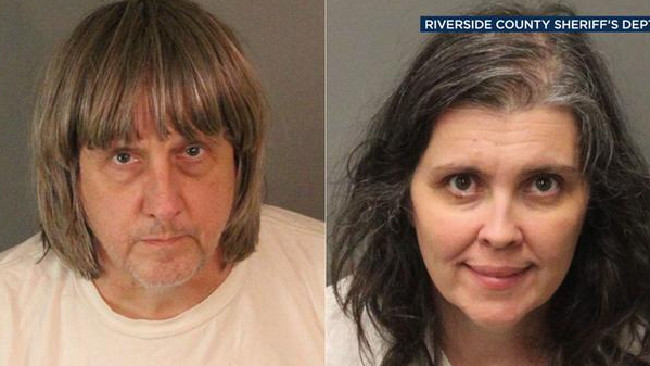 David and Louise Turpin allegedly kept 13 victims confined in filthy conditions in Perris home. Source: Riverside County Sheriff's Dept.