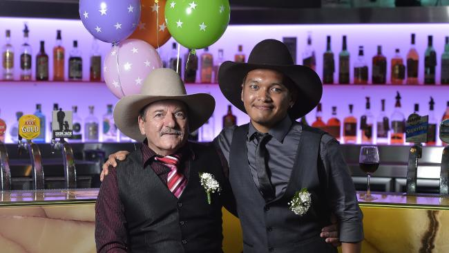 Keith Edwards and Afham Janil are the first gay couple to marry in the Northern Territory. Picture: Keri Megelus