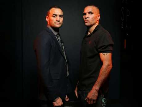 Tommy Browne and Anthony Mundine.