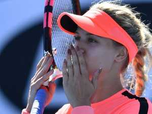 Bouchard breaks her drought
