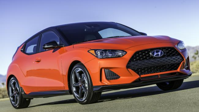 The regular Veloster will arrive here in the second half of this year. Picture: Supplied.