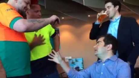 One of the videos featuring Sam Dastyari caused widespread outrage. Supplied