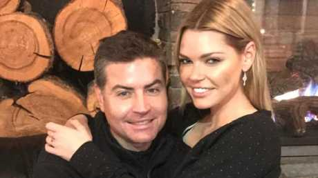 Sophie Monk and Stu Laundy in Canada. Picture: Supplied/Instagram