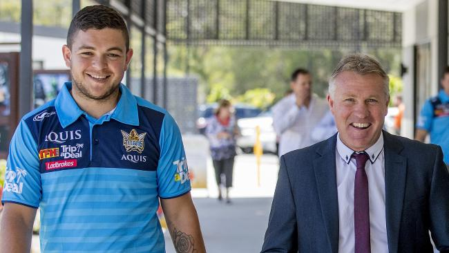 Ash Taylor's relationship with coach Garth Brennan shapes as a crucial factor in the Titans' finals hopes. Photo: Jerad Williams
