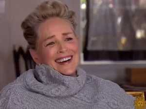 Sharon Stone laughs about sexual misconduct
