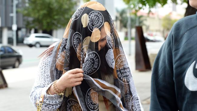 Terrilee Jordan outside the Adelaide Magistrates Court last year. Picture: Greg Higgs