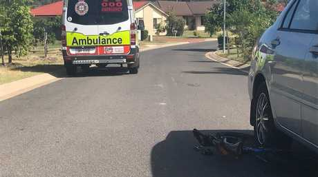 The scene where a six-year-old boy was hit by a car in Torquay