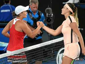 HARD-FOUGHT: Ipswich's Ashleigh Barty had to overcome the booming ground strokes and vocal chords of Belarusian Aryna Sabalenka to progress to the second round of the Australian Open.