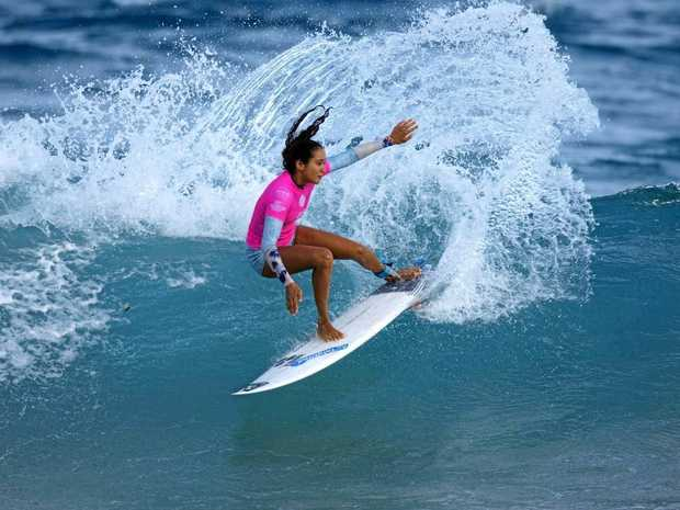 TURN FOR THE BEST: Tahiti's Vahine Fierro in action.