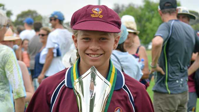 HOMEGROWN HERO: Tarah Staines from Monto won the gold medal playing U12 cricket in the nationals.