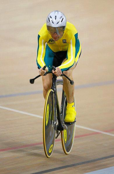 Australia Day ambassador Chris Scott competing for Australia in cycling.