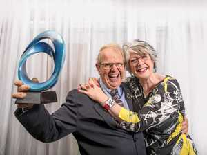 EXCITED: SPAR Maclean owners Judith and Bob Little were thrilled to be announced the Business of the Year at the 2017 Clarence Valley Business Excellence Awards held at Bowlo Sports and Leisure Yamba.