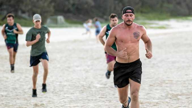 The Maroochydore Swans are in week two of their grueling pre-season, opting for beach sessions over ball work.