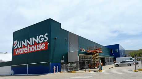 The old Masters store on River Rose Dr is getting  a makeover in Bunnings colours and logos.