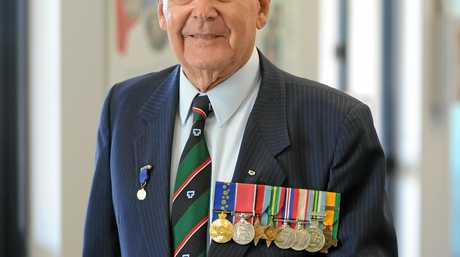 Tom McLucas OAM BEM has been acknowledged for his 50 years of outstanding community service as Parade Marshal for the Bundaberg City ANZAC Day Citizen's Service. Photo: Mike Knott tom2910c