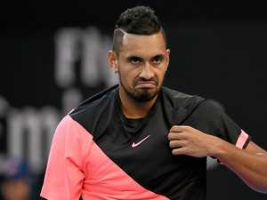 Kyrgios slapped with fine for swearing at fans