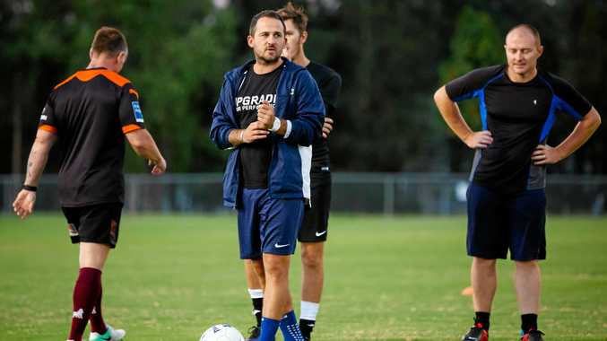FIRST SESSION: Gympie United coach-Kyle Nix