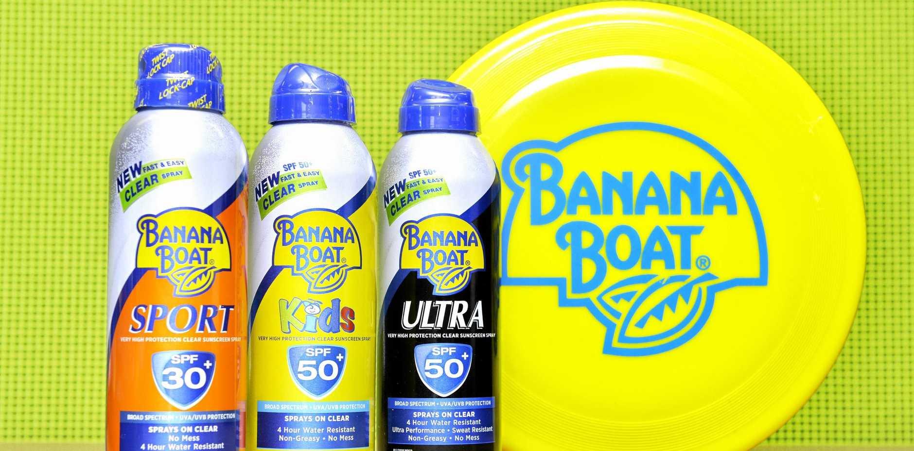 Banana Boat sunscreen.