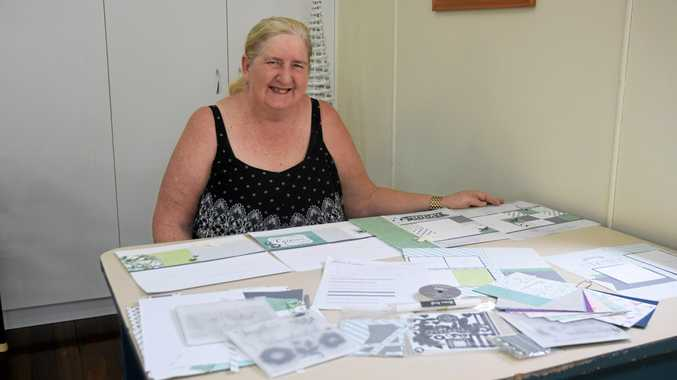 GETTING CREATIVE: Bev Weston organises monthly scrapbooking workshops and welcomes everyone to join the group.