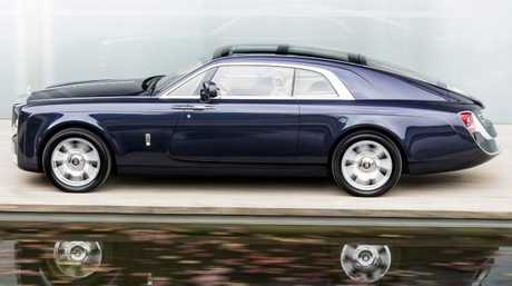 A handcrafted body and customised interior make the Rolls-Royce Sweptail the most expensive Rolls-Royce to date. Picture: Supplied.