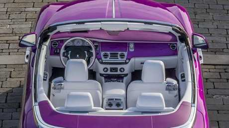 Rolls was up to the challenge of recreating the colour of fuchsia petals. Picture: Supplied.