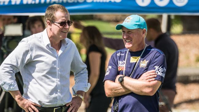 Titans chief executive Graham Annesley and coach Garth Brennan.