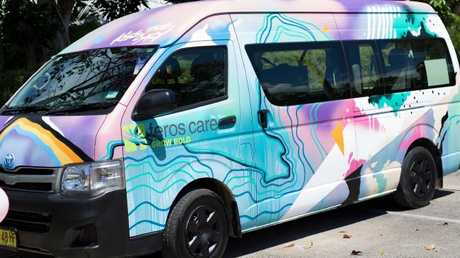 The residents at Feros Care have pimped their mini bus with the help of a graffiti artist